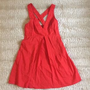 Beautiful simple Theory Sz 0 red summer dress